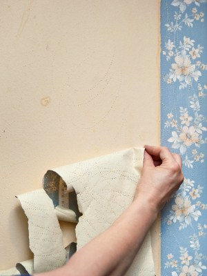 Wallpaper removal by North College Park Painting LLC.