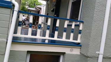 front porch repainted