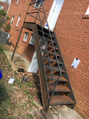 Before & After Metal Staircase Painting in Riverdale, MD (1)