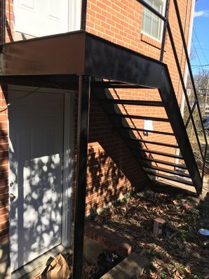 Before & After Metal Staircase Painting in Riverdale, MD (2)