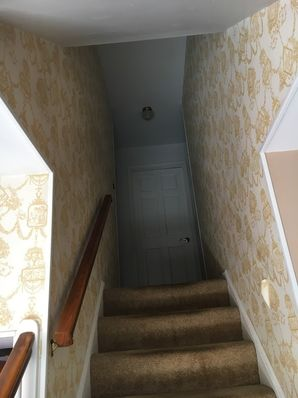 Before & After Wallpaper Removal in College Park, MD (1)
