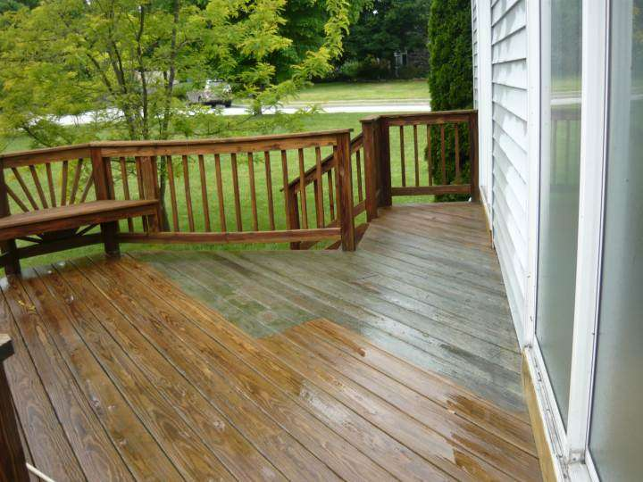 Power Washing of a Deck in Ellicott City, MD