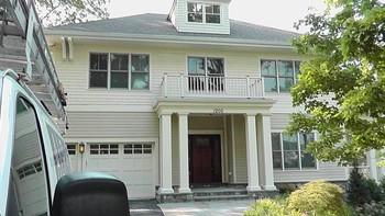 Exterior Painting of Front Porch in Silver Springs, MD