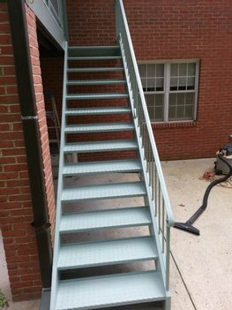 Metal Stairs Painted in College Park